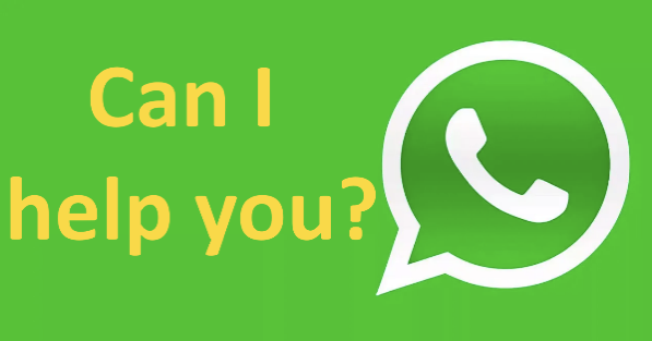 send us a message through whatsapp