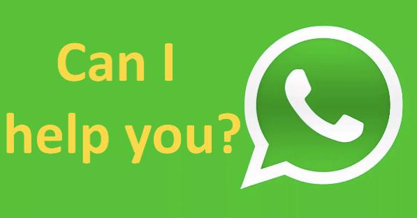 send us a message through whatsapp